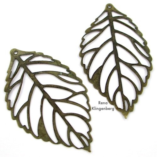 Large Leaf Filigrees for Make Filigree Earrings 10 Design Ideas Tutorial by Rena Klingenberg