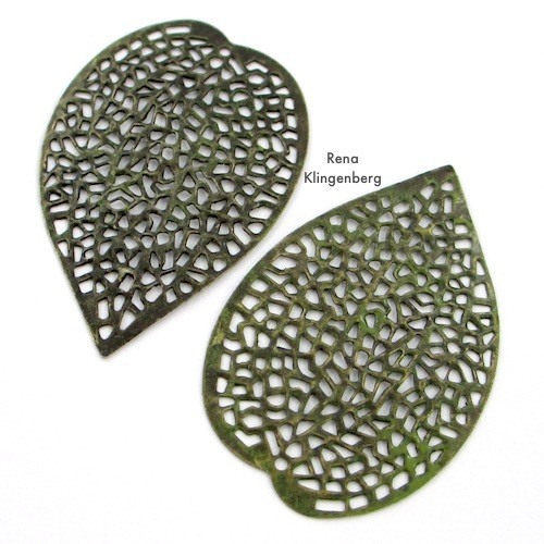 Perforated Leaf Filigrees for Make Filigree Earrings 10 Design Ideas Tutorial by Rena Klingenberg