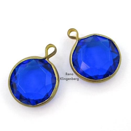 Glass Cabochons in Settings for Make Filigree Earrings 10 Design Ideas Tutorial by Rena Klingenberg