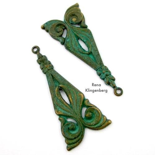 Triangular Filigree Components for Make Filigree Earrings 10 Design Ideas Tutorial by Rena Klingenberg