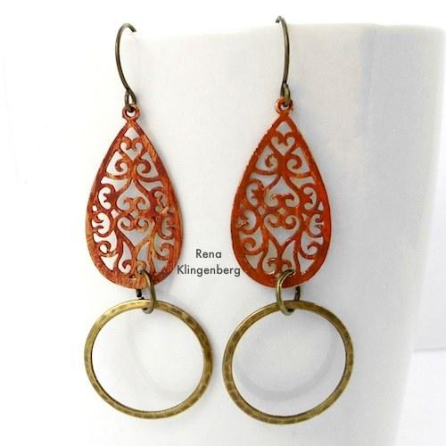 Hoops and Teardrops Earrings Make Filigree Earrings 10 Design Ideas Tutorial by Rena Klingenberg