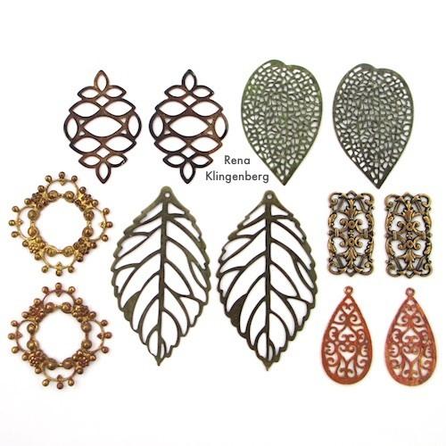 Filigree Stampings Used in Make Filigree Earrings 10 Design Ideas Tutorial by Rena Klingenberg
