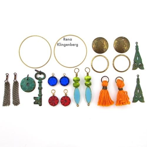 Other Components Used in Make Filigree Earrings 10 Design Ideas Tutorial by Rena Klingenberg