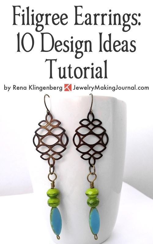 Make Filigree Earrings 10 Design Ideas Tutorial by Rena Klingenberg