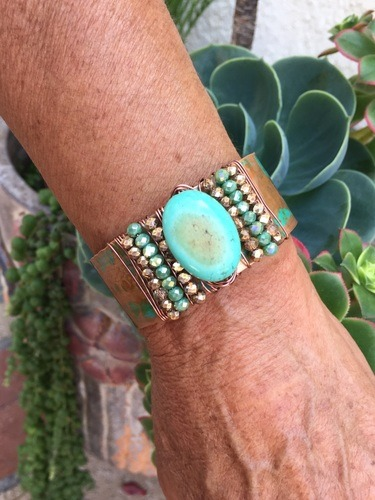 Vintage Copper Cuff by Denise Bellinger  - featured on Jewelry Making Journal