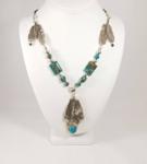 3 Feathers Boho Necklace