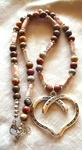 Jasper Gemstone Necklace with Large Pendant