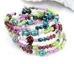 Spring Bling Beaded Bracelet