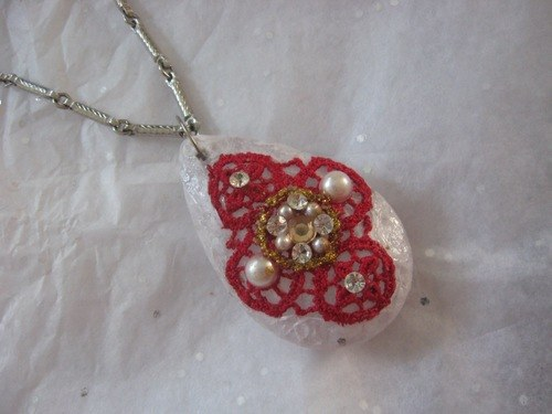 Tissue Papered Chandelier Drop Pendants/Christmas Ornaments by Tamara Robertson  - featured on Jewelry Making Journal