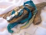 Turquoise Ripped Silk Beachy Jewellery