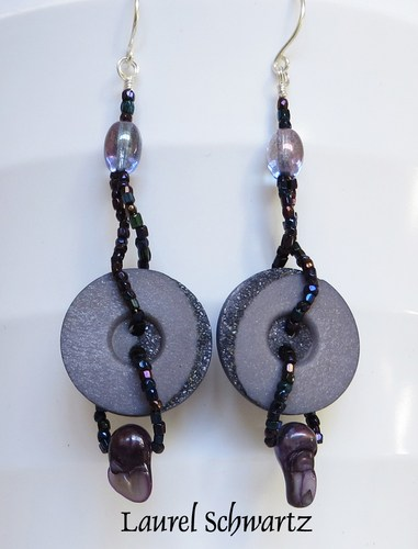 From Mildred's Button Box to Earrings by Laurel Schwartz  - featured on Jewelry Making Journal