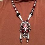 """BOO-YAH!!!"" Tribal Mask Pendant"
