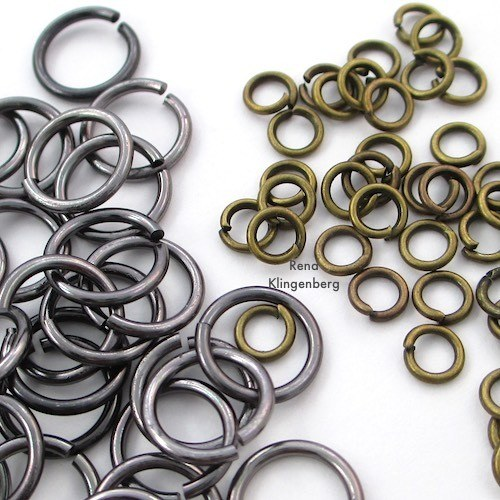 Jump ring sizes for How to Make a Chain Tutorial by Rena Klingenberg