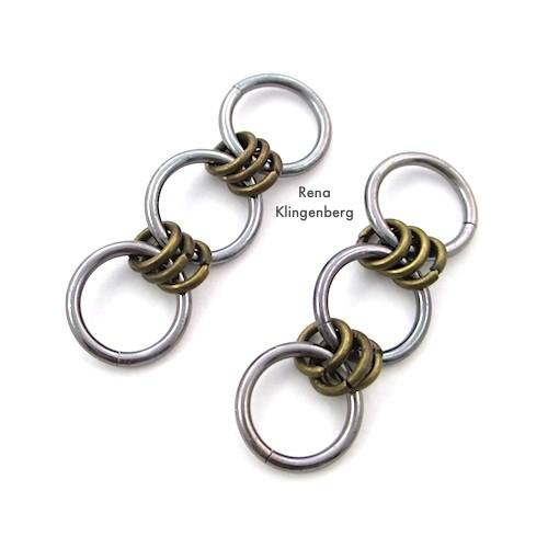 Making chain earrings - How to Make a Chain Tutorial by Rena Klingenberg