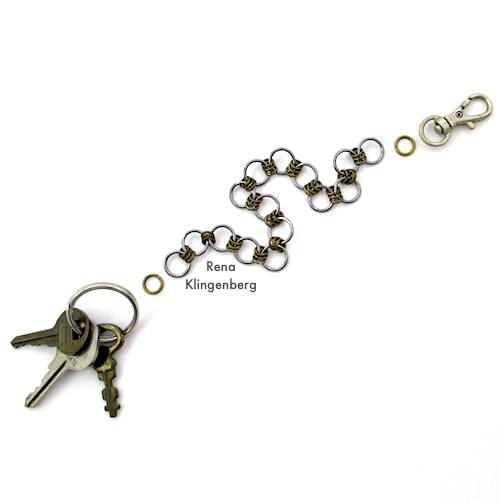 Making a Key Chain with Swivel Hook - How to Make a Chain Tutorial by Rena Klingenberg