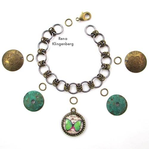 Making a Chain Charm Bracelet - How to Make a Chain Tutorial by Rena Klingenberg