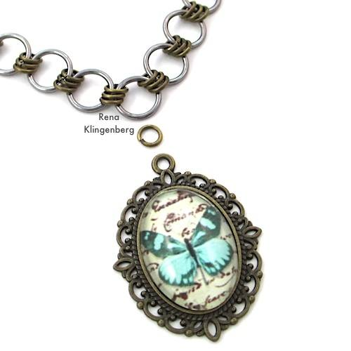 Making a Pendant Necklace - How to Make a Chain Tutorial by Rena Klingenberg