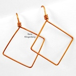 Square Hoop Earrings (Tutorial)