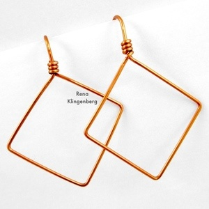 Square Hoop Earrings (Tutorial)