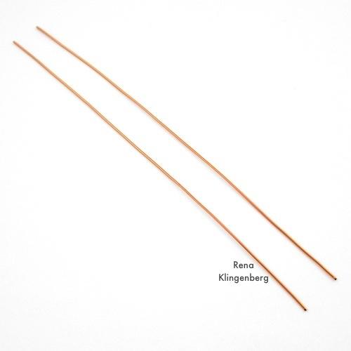 Wire for Square Hoop Earrings Tutorial by Rena Klingenberg