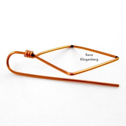 Making the Earwire for Square Hoop Earrings Tutorial by Rena Klingenberg