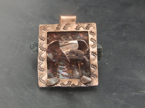 Jewelry Frame Challenge Pendant by Elizabeth Reid  - featured on Jewelry Making Journal