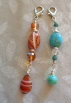 Zipper Pulls from Bead Stash