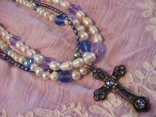 Pewter and Pearls for Easter and More by Tamara Robertson  - featured on Jewelry Making Journal
