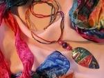 Colourful Silk Cord Necklaces