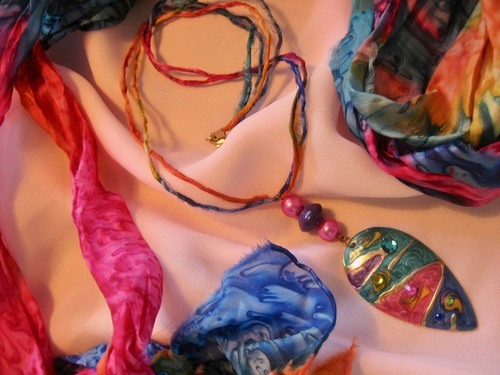 Colourful Silk Cord Necklaces by Tamara Robertson  - featured on Jewelry Making Journal