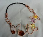 Horse Hair, Copper Wire, and Swarovski Beaded Necklace