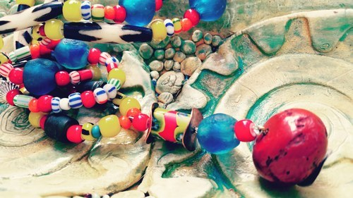 Beautiful Tribal Beaded Necklaces by Paula Navarro  - featured on Jewelry Making Journal