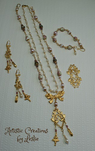 Parure Set, Fit for Wearing to a Ballet, by Leslie  - featured on Jewelry Making Journal