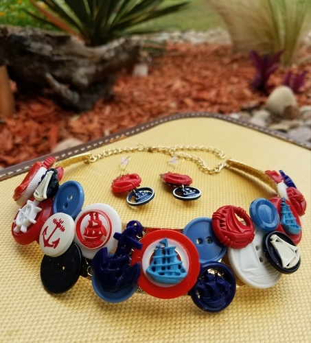 A Sailing We Shall Go - Summertime Patriotic Jewelry by Deborah Rodriguez  - featured on Jewelry Making Journal