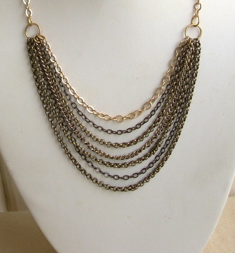 Chain Gang Necklace by Nancy Vaughan  - featured on Jewelry Making Journal