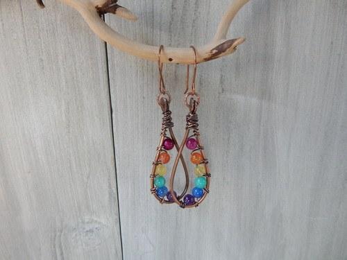 Rainbow Season Earrings by Erinn  - featured on Jewelry Making Journal