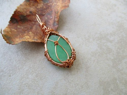 Wire Wrapped Green Aventurine by Julia Ferry  - featured on Jewelry Making Journal