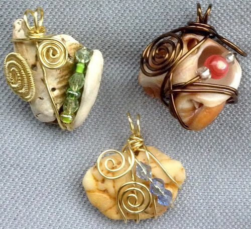 Natural Elements Wire Wrapped by Amy  - featured on Jewelry Making Journal
