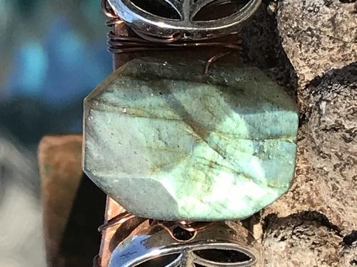 Labradorite Lotus Cuff Bracelet by Denise Bellinger  - featured on Jewelry Making Journal