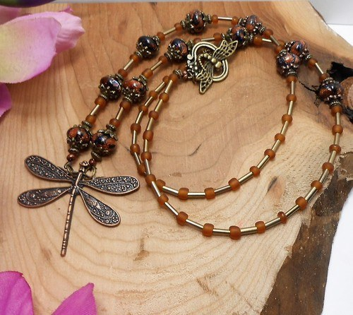 Dragonfly Dreams Jewelry Set by Rose Miller  - featured on Jewelry Making Journal