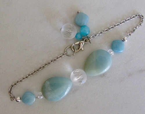 Gemstone and Chain Bracelets by Christine Yuss  - featured on Jewelry Making Journal