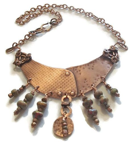 Ethnic Bib Style Necklace by Juanita Day  - featured on Jewelry Making Journal