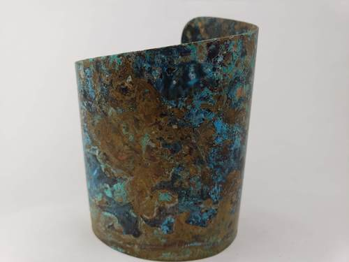 Wonder Woman Patina Cuff by Julia S Vaughn  - featured on Jewelry Making Journal