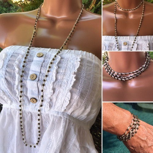Vintage Style Necklaces/Bracelets by Denise Bellinger  - featured on Jewelry Making Journal