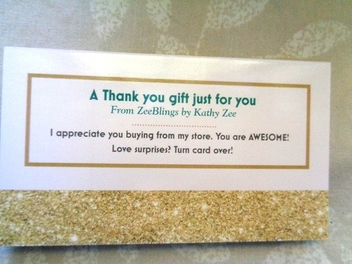 Thank You Card For Jewelry Customers Jewelry Making Journal