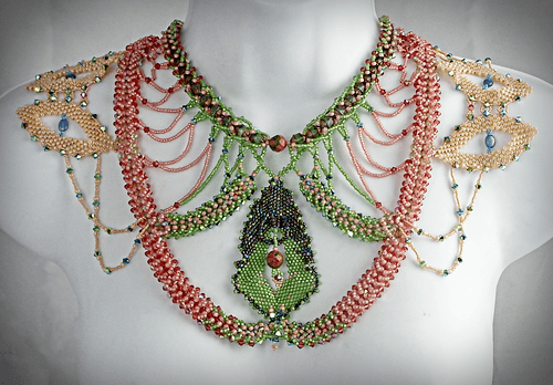 One of My Ornate Works of Wearable Art by Patricia C Vener  - featured on Jewelry Making Journal
