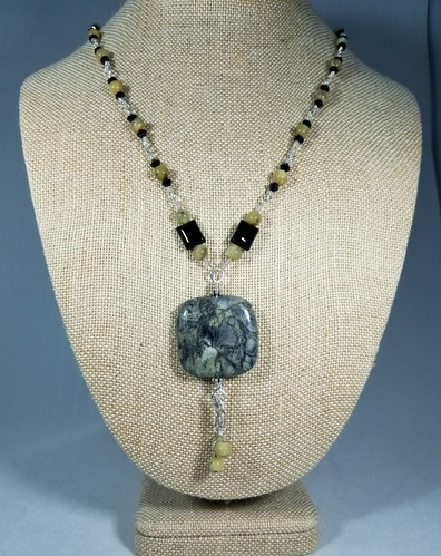 Walk in the Forest by Patti G - Silver Leaf Jasper  - featured on Jewelry Making Journal