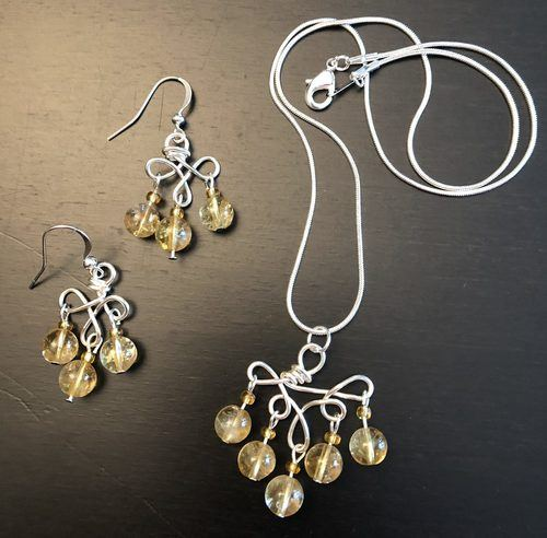 Citrine, Two Ways for Twins by Melissa - featured on Jewelry Making Journal