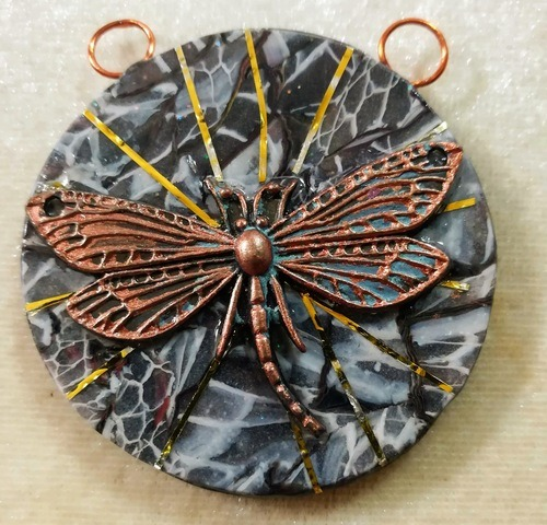 Jewelry Layered in Clay by Rebecca Doremus  - featured on Jewelry Making Journal