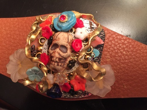 Dia del Muerte Cuff by Chris H.  - featured on Jewelry Making Journal